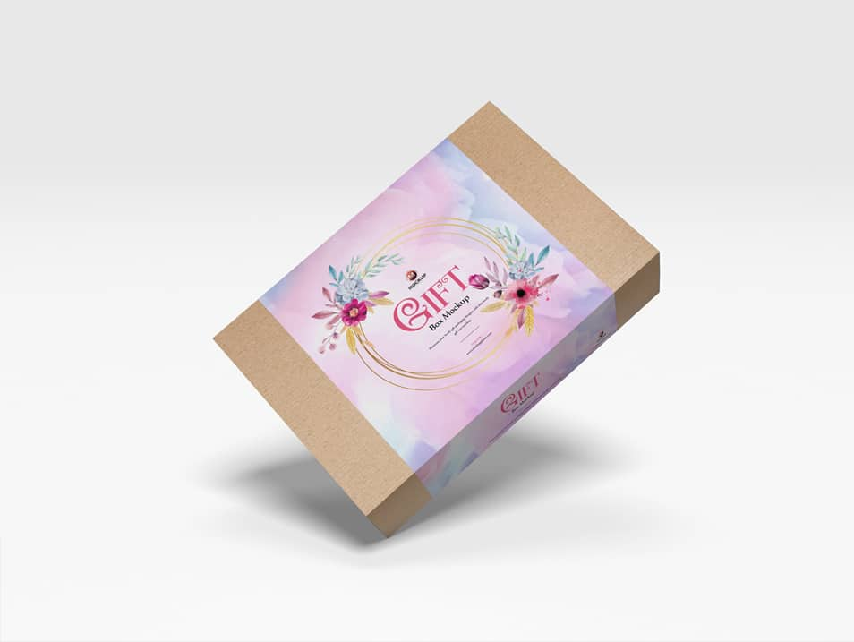 Free Gift Box Mockup For Packaging