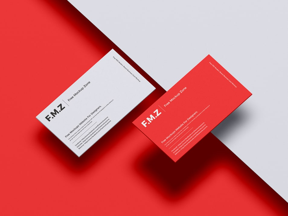 Free PSD Modern Brand Business Card Mockup