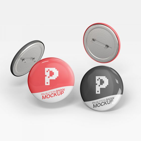 Free Pin Button Badge Mockup