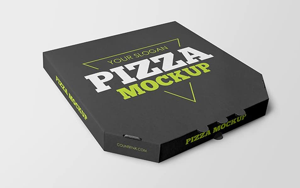 Free Pizza Box Mockups