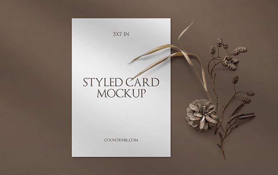 Free Styled Card Mockup
