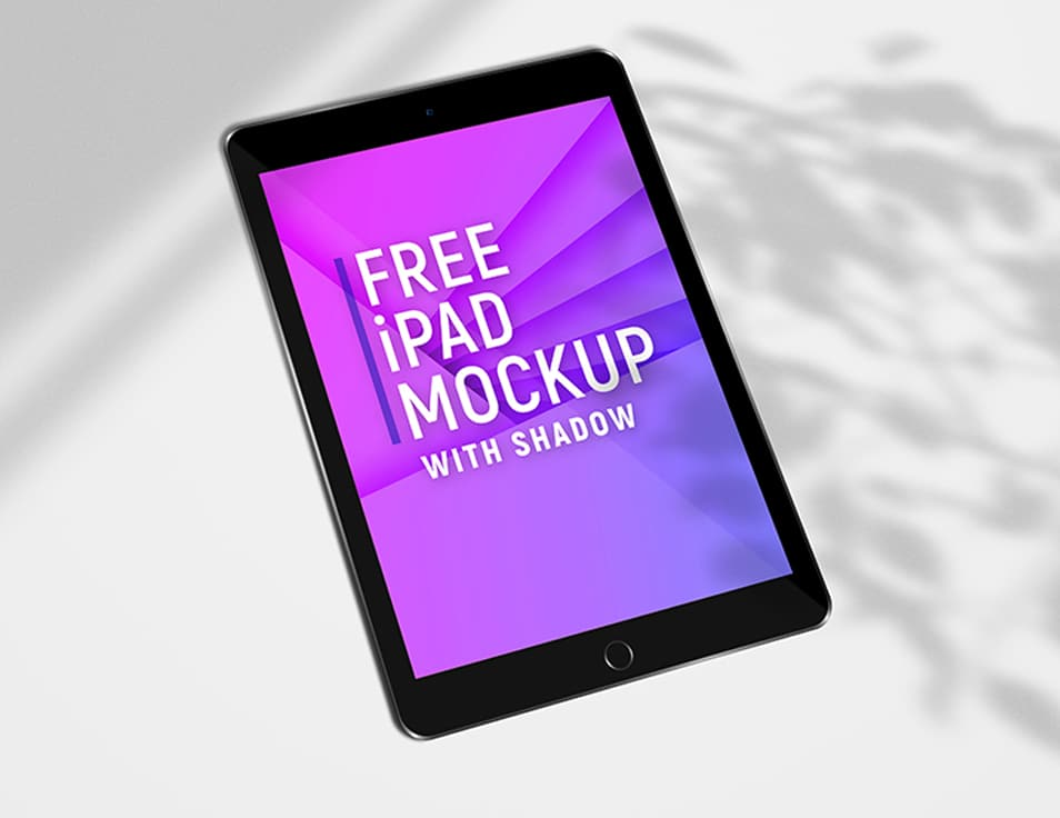 Free iPad screens mockup PSD