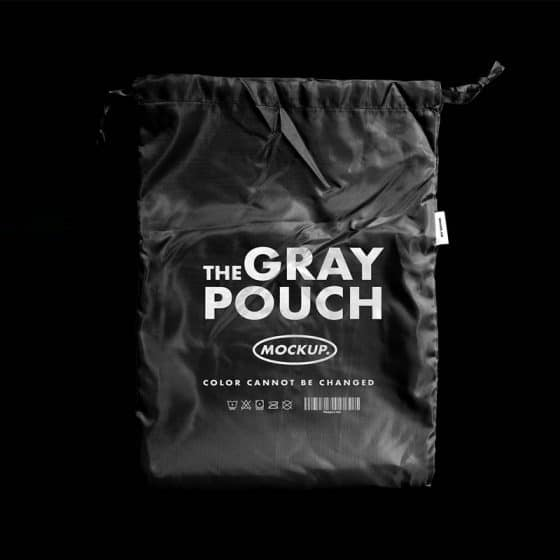 Gray Pouch Mockup Template PSD