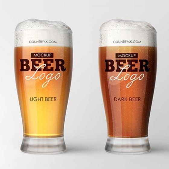 Free Beer Glass Mockup