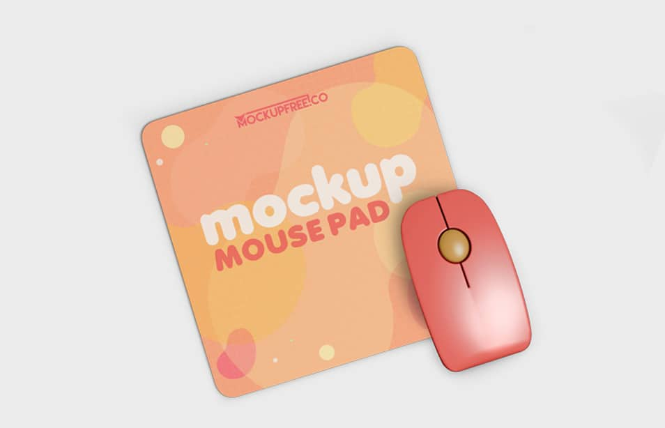 Free Mouse Pad Set Mockup in PSD
