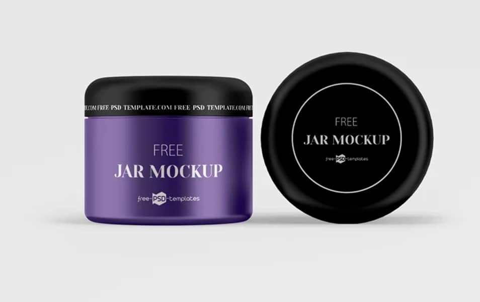 Free PSD Cosmetic Jar Mockup Set