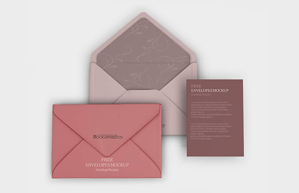 Free PSD Envelopes Mockup Templates