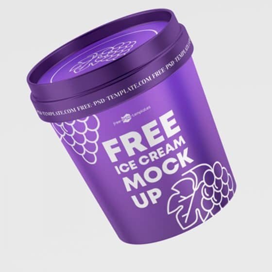 Free PSD Ice Cream Plastic Jar Mockup Template