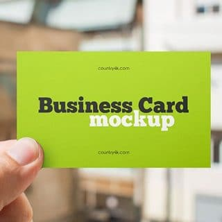 Free Paper Business Card Mockup