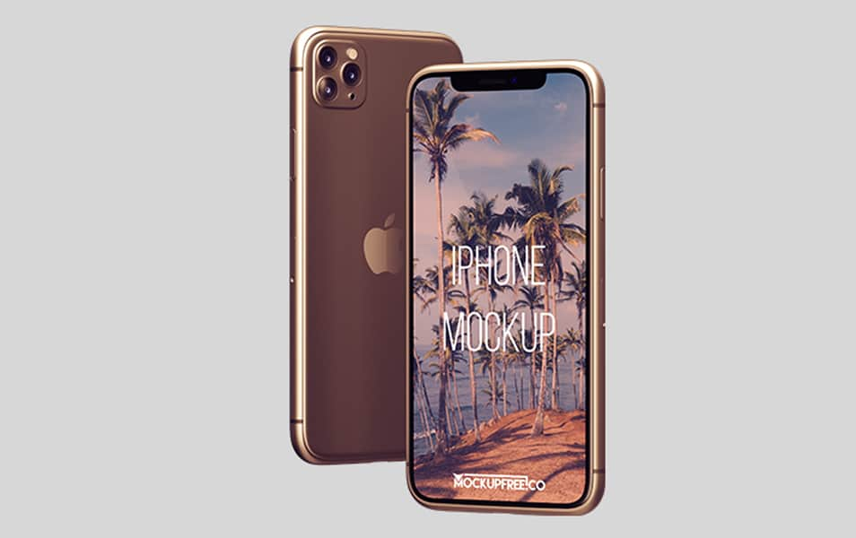 Free iPhone Mockup in PSD