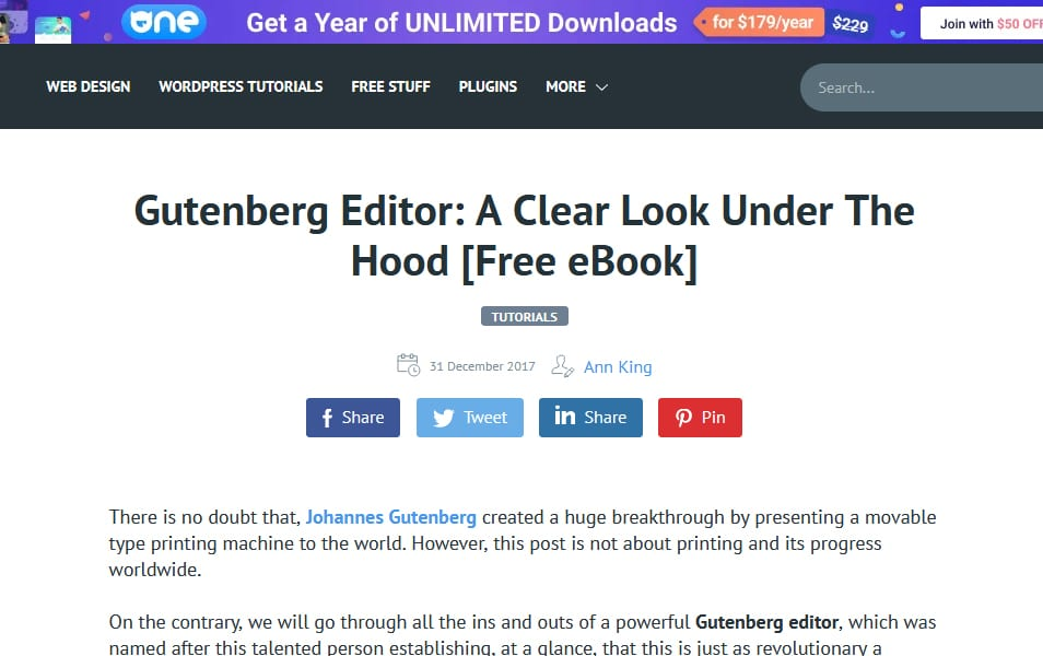 Gutenberg Editor A Clear Look Under The Hood