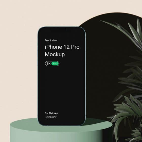 iPhone 12 Pro With Plant Mockup