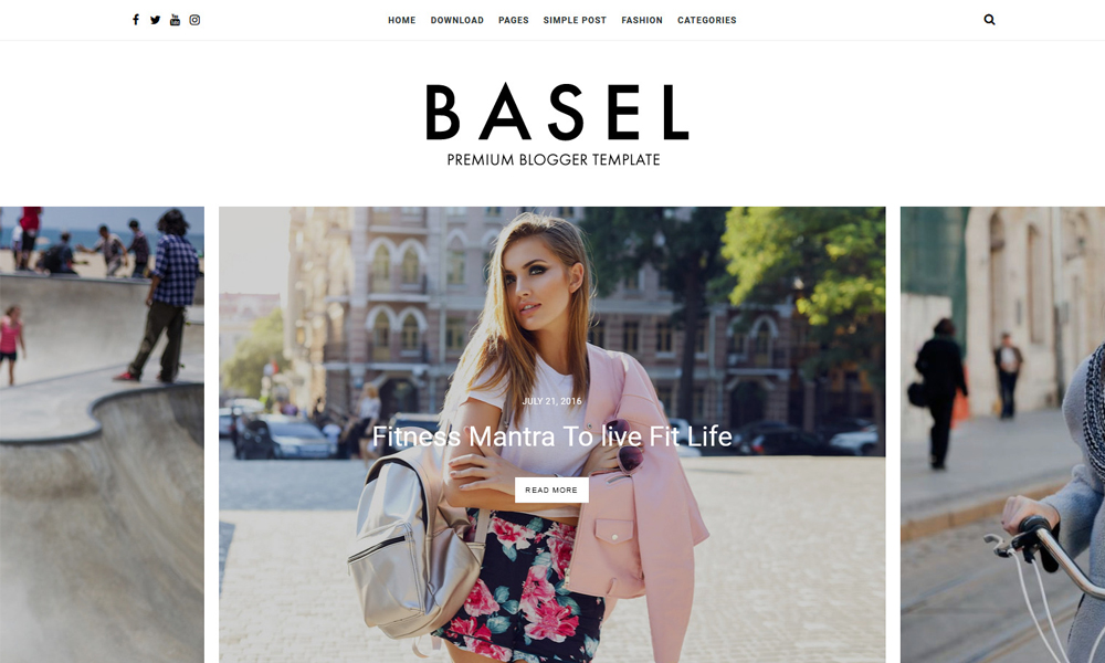 Basel Fashion & Personal Responsive Blogger Template