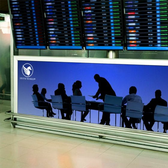 Free Airport Advertising Ads Mockup PSD