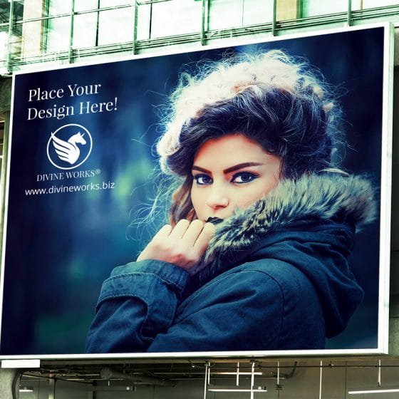 Outdoor Billboard Building PSD Mockup