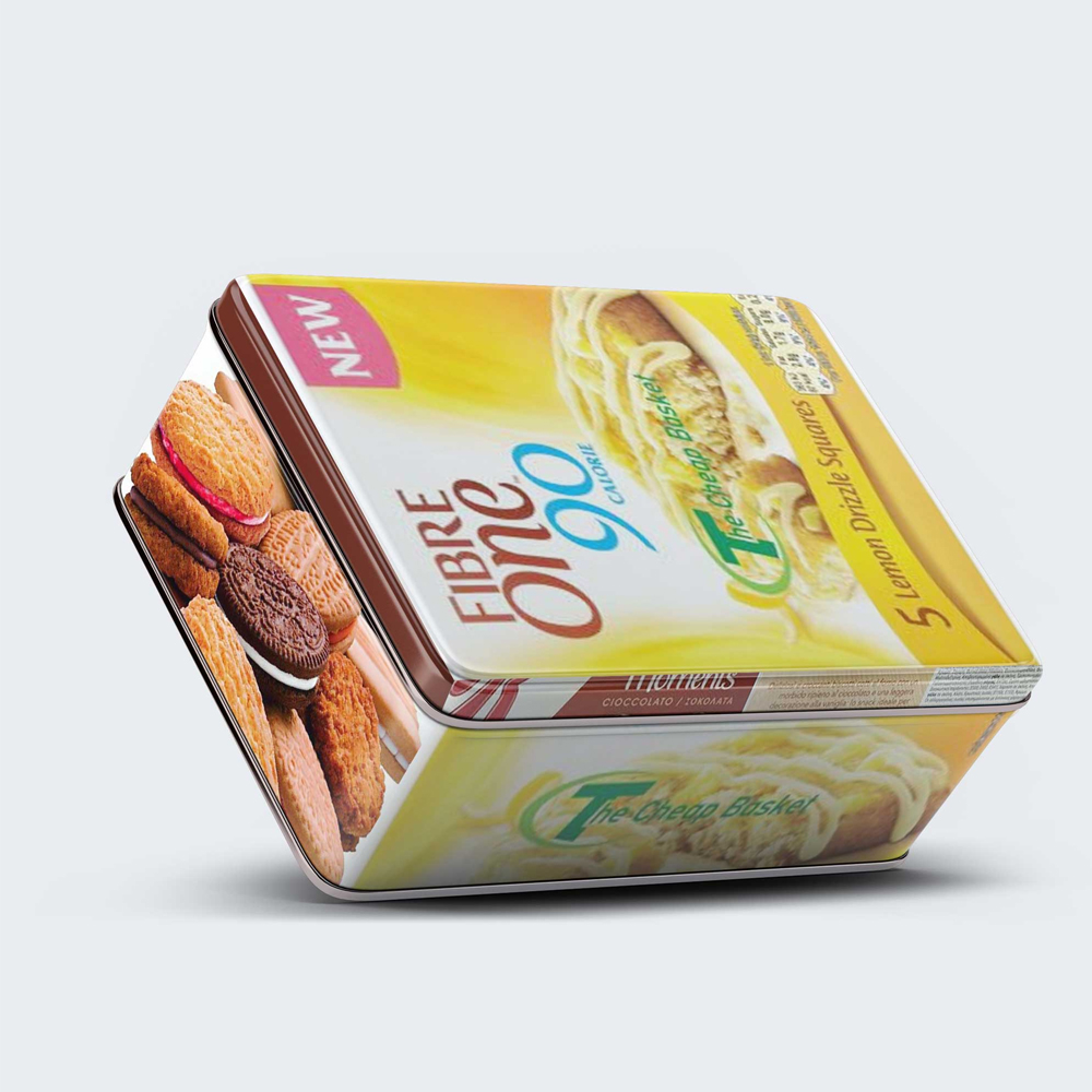 Tilt Tin Box Packaging Mockup