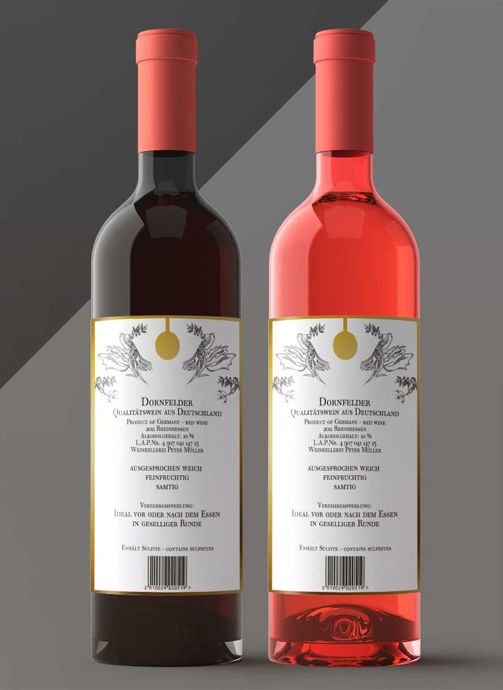 Wine Bottle Label Mockups