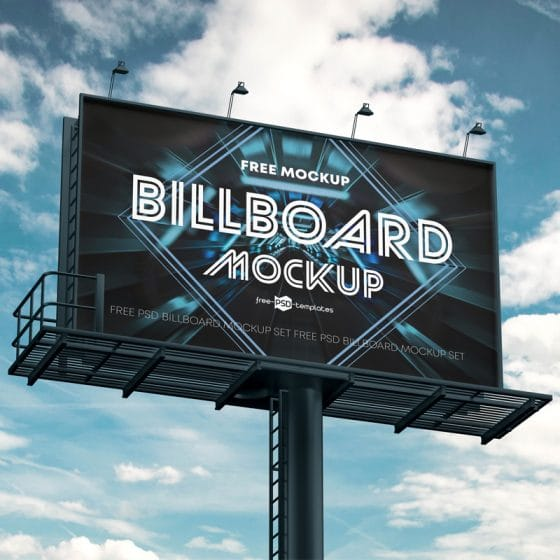 Free Billboard Ad Mockups in PSD