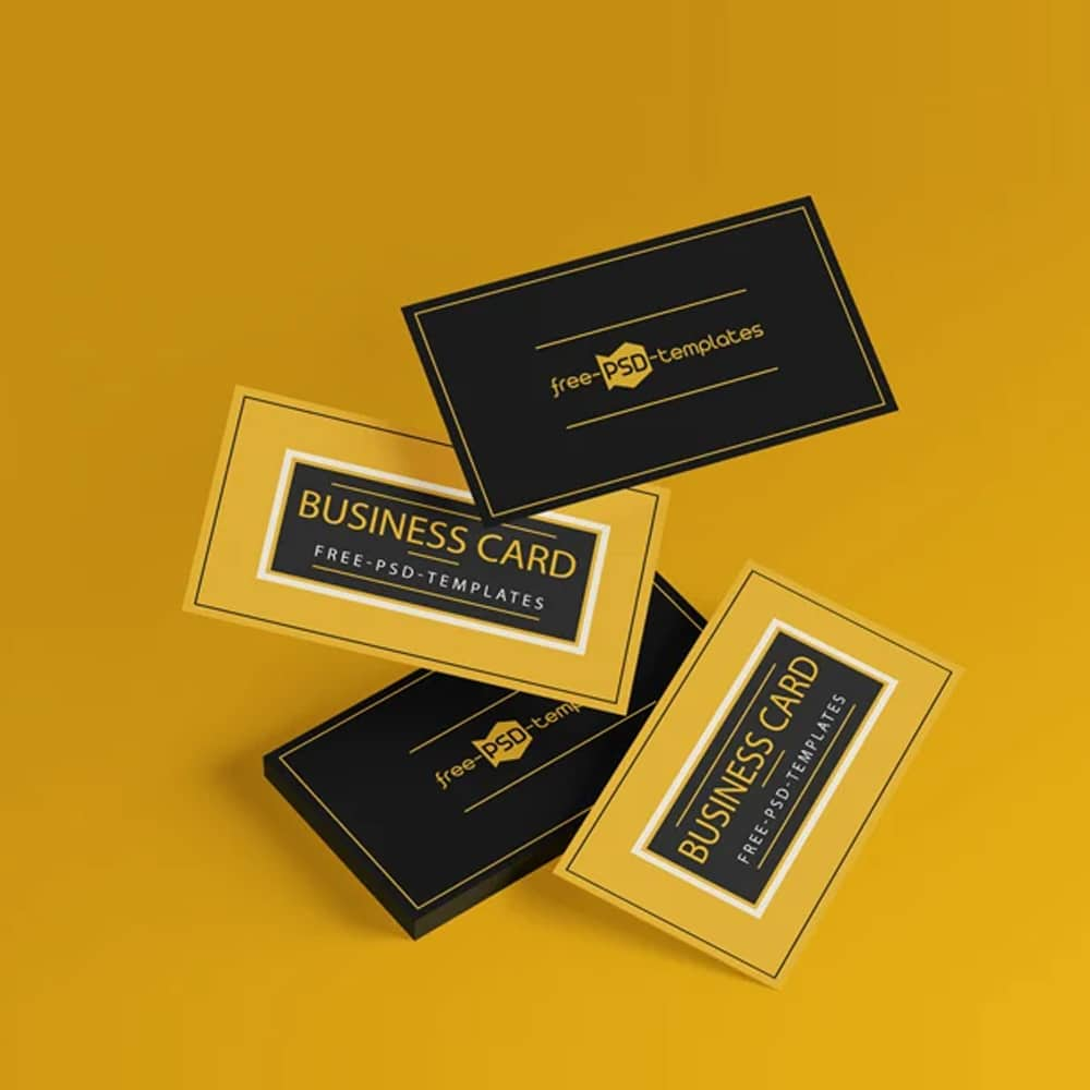 Free Business Card Mockups in PSD