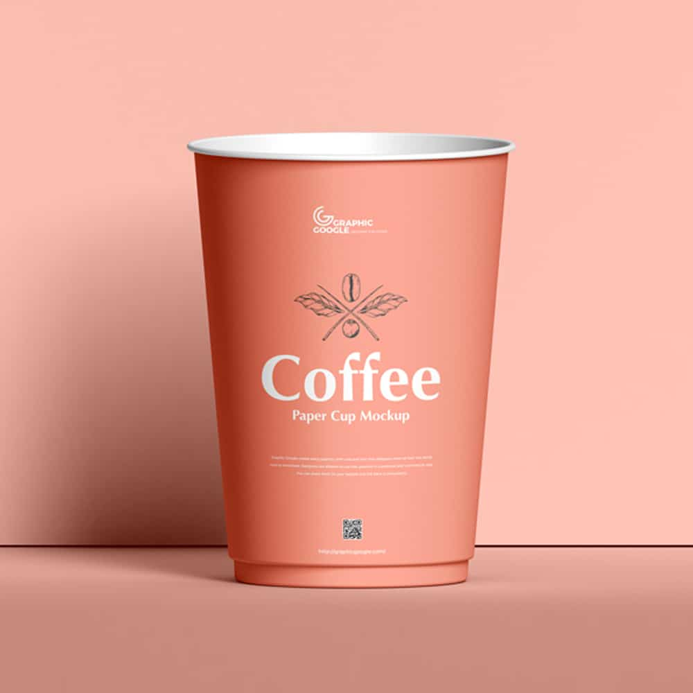 Free Coffee Paper Cup Mockup PSD