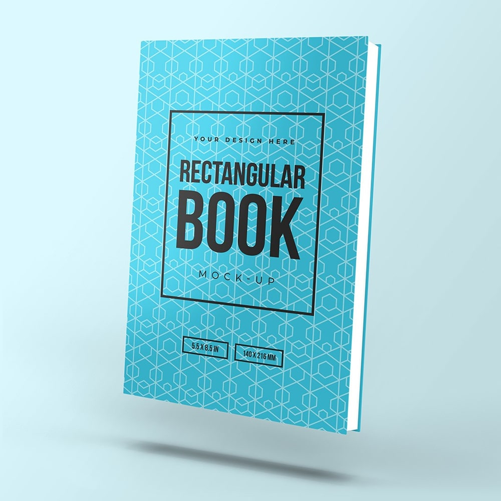 Free Floating Rectangular Book Mockup