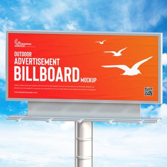 Free Outdoor Advertisement Billboard Mockup PSD