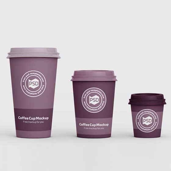 Free PSD Coffee Cup Mockup Templates