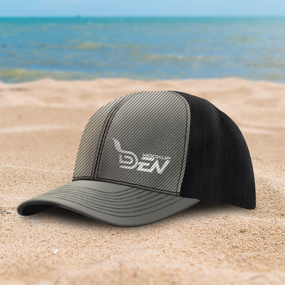 Free Smart Hat Mockup In Outdoor Background PSD Template