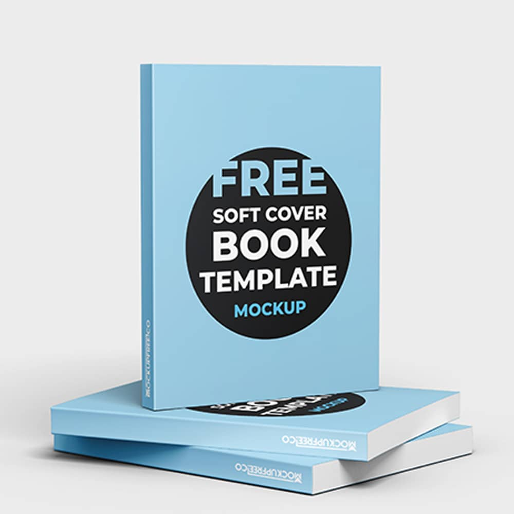 Free Soft Cover Book Mockup in PSD