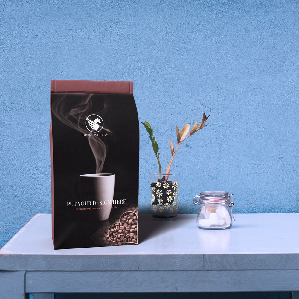Free Coffee Packaging Mockup PSD