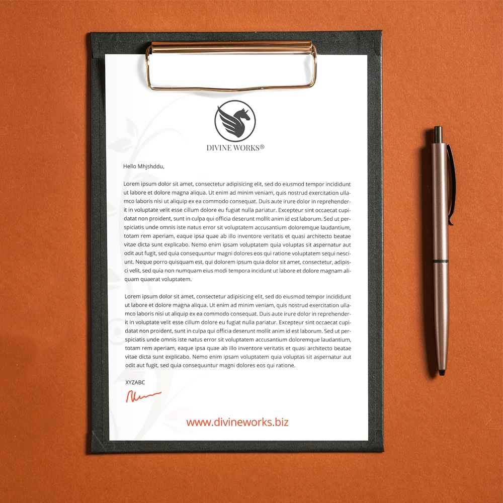 Free Letterhead On Clipboard Mockup PSD