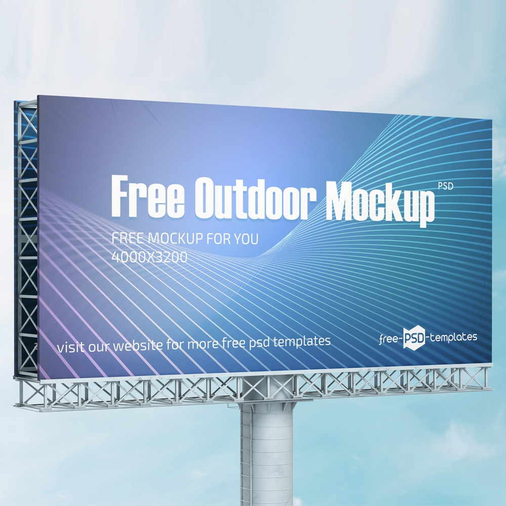 Free Outdoor Mockup in PSD