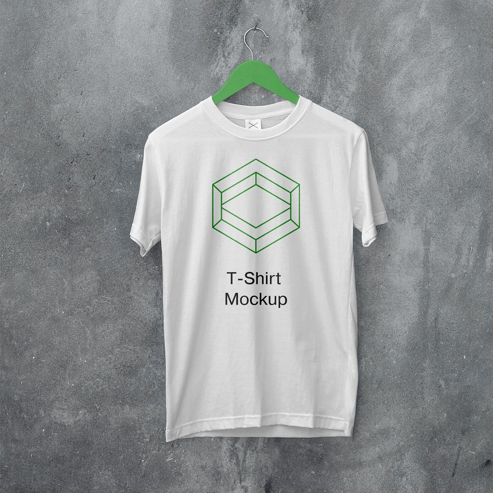 White Hanging T-Shirt Mockup