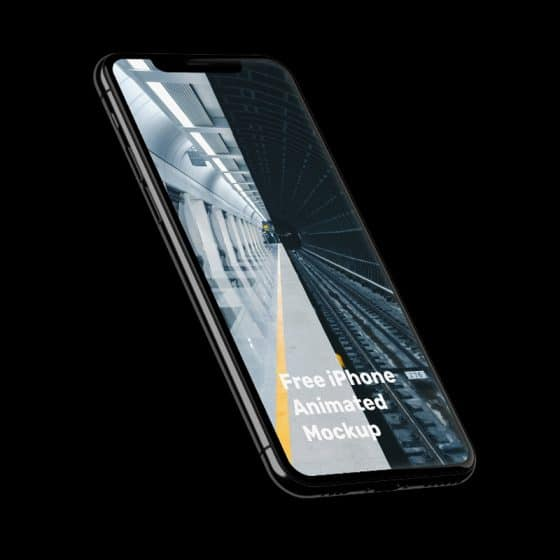 iPhone 11 Pro Twisted Animation Mockup
