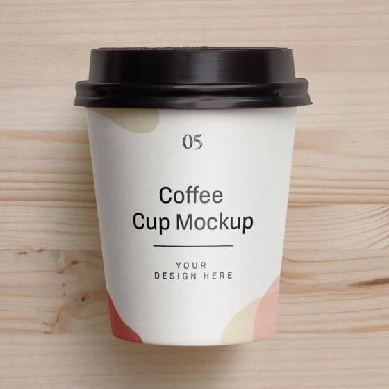 Free Small Coffee Cup Mockup PSD